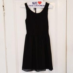 Black lace/nylon dress